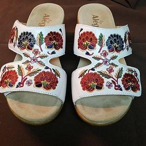 Alegria Floral Wedge Sandals